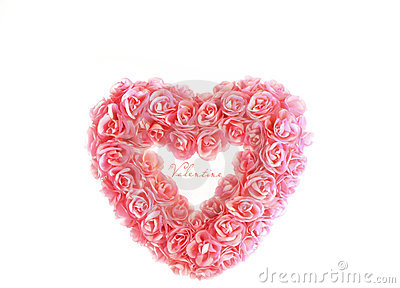 Heart with tiny pink roses