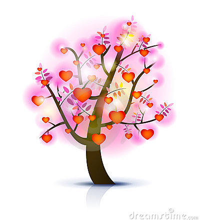 Heart tree illustration