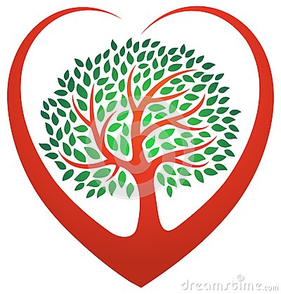 Heart Tree Logo Stock Vector Image 52487830