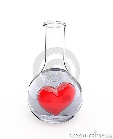 Heart on tube