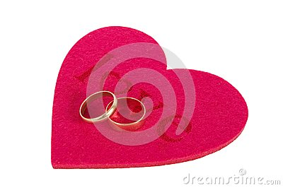 Heart and two rings