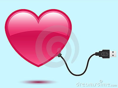 Heart with USB plug