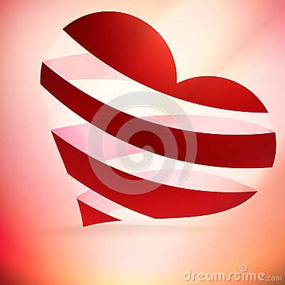 Heart And Valentin`s Day Card.