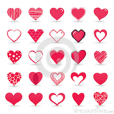 Free Heart Valentine Icon Set Royalty Free Stock Image - 36689866