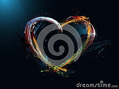 heart Valentine s Day, graffiti