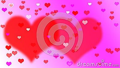Heart valentines background.