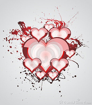 Heart Valentines Day background
