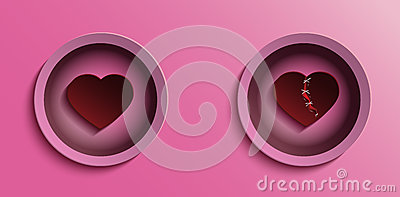 Heart vector valentine