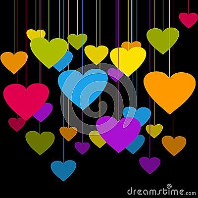 Free Heart Vignetts Stock Images - 12921704