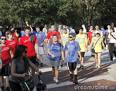 Heart walk Editorial Stock Photo