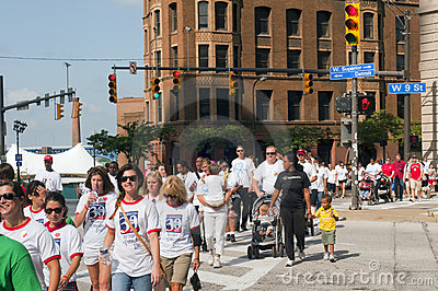 Heart Walk Cleveland Editorial Image