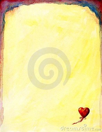 Free Heart Watercolor Stationery Stock Photography - 91852