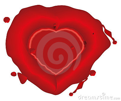 Heart, wax seal