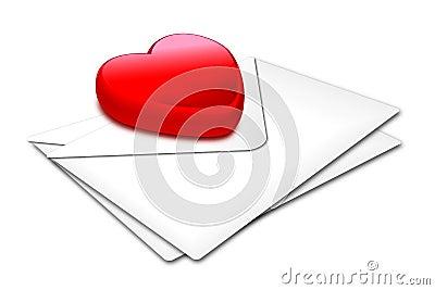 Heart_white envelop
