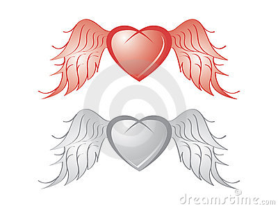 Heart with wing