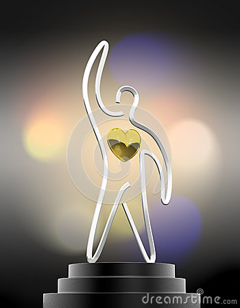 The heart winner trophy