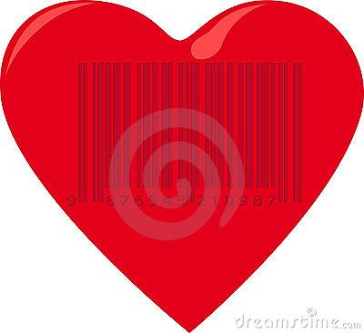 Free Heart With Barcode Stock Photo - 21002630