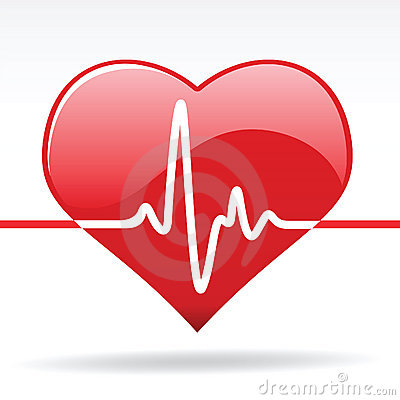 Free Heart With Cardiogram Stock Image - 14238381