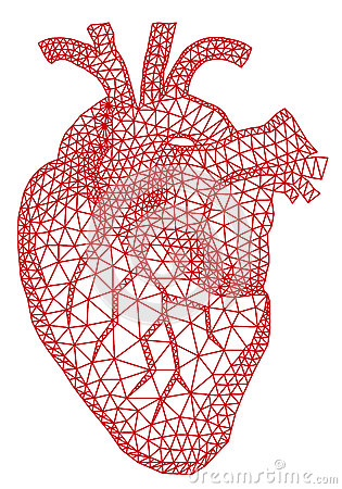 Free Heart With Geometric Pattern, Vector Royalty Free Stock Photos - 34812538