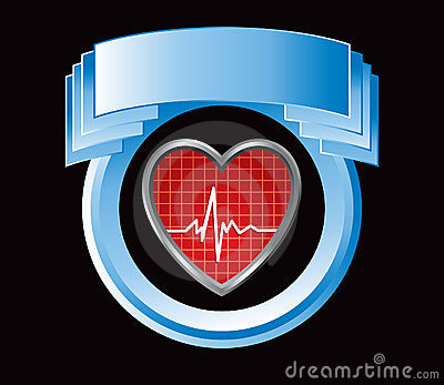 Heartbeat in blue display