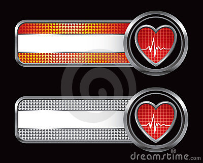 Heartbeat icon on specialized banners
