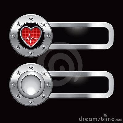 Heartbeat on metal banners