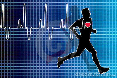 Heartbeat and running man