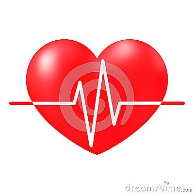 Free Heartbeat Sign, Medical Cardiogram Stock Photos - 88550483