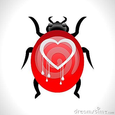 Heartbleed openssl bug virus heart bleed bug concept- vector eps10 Vector Illustration