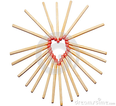 Hearth made of matches