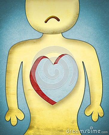 Heartless sad character