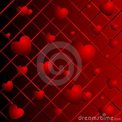 Hearts on a abstract background