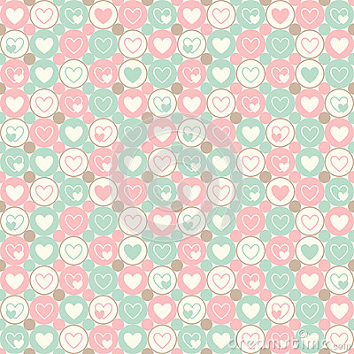 Free Hearts And Circles Seamless Geometrical Pattern Stock Image - 63128091