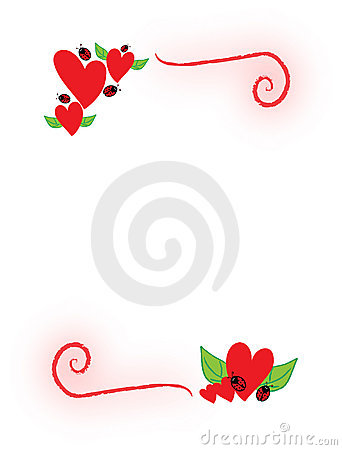 Free Hearts And Ladybugs Royalty Free Stock Photos - 12920928