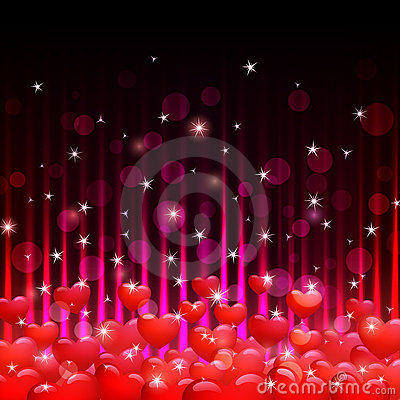 Free Hearts And Sparks Stock Images - 22953704