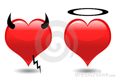 Hearts. Angel and Devil