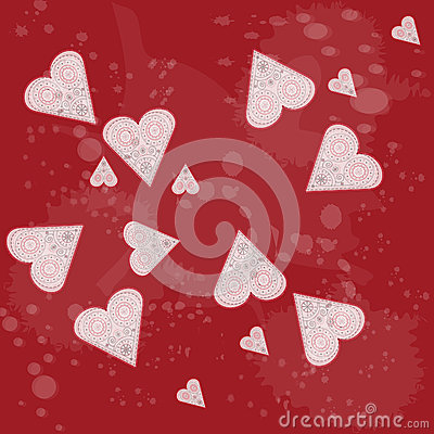 Hearts background.