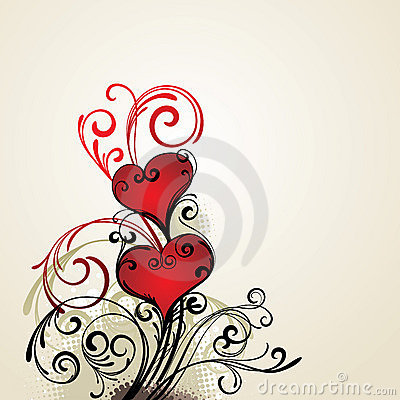 hearts background drawing