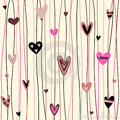 Free Hearts Background Stock Images - 9519124