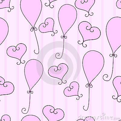 Hearts and balloons