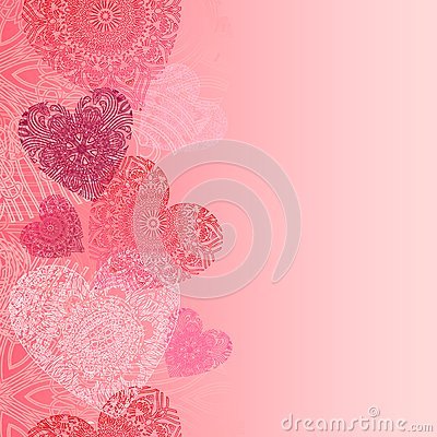 Free Hearts Card With Lace Hearts Stock Images - 28656624