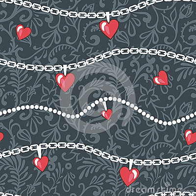 Hearts-and-chains-pattern