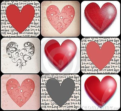 Free Hearts Collage Stock Photo - 22631610