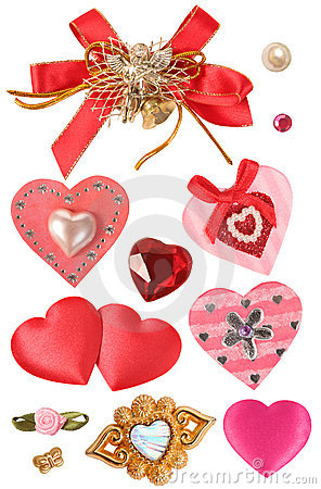 Hearts and decorative elements