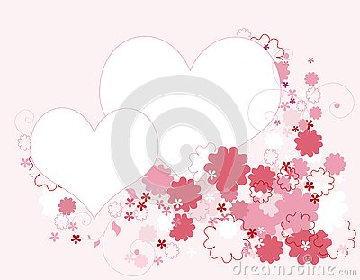 Hearts and floral border