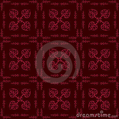 Hearts Floral Seamless Pattern