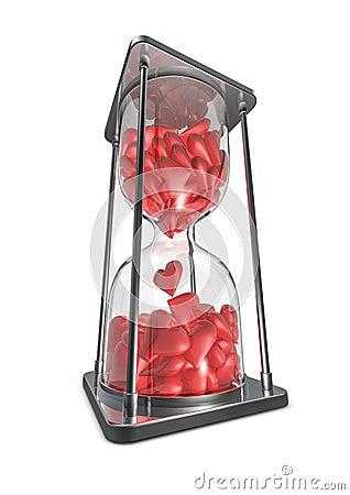 Hearts hourglass