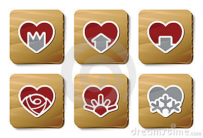 Hearts icons | Cardboard series