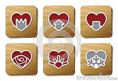 Hearts icons | Cardboard series