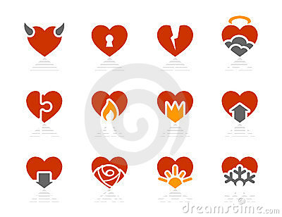 Hearts icons | Sunshine Hotel series